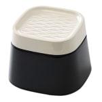 Savic ergo cube voerbak creme / zwart (22X22X16 CM)