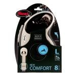 Flexi rollijn new comfort tape zwart (L 8 MTR)