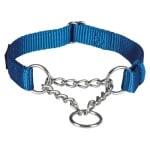 Trixie halsband hond premium choker royal blauw (30-40X1,5 CM)