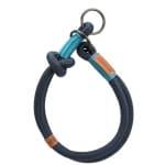 Trixie halsband hond be nordic slip met stop donkerblauw / lichtblauw (40X0,8 CM)
