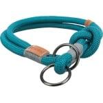 Trixie halsband hond be nordic slip met stop petrol / lichtgrijs (50X1,3 CM)
