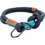 Trixie halsband hond be nordic slip met stop donkerblauw / lichtblauw (55X1,3 CM)