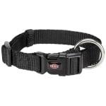 Trixie halsband hond premium zwart (30-45X1,5 CM)