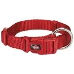 Trixie halsband hond premium rood (30-45X1,5 CM)