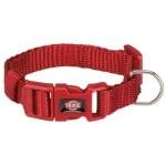 Trixie halsband hond premium rood (15-25X1CM)