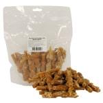 Kip staaf gevlochten met wortel (400 GR)