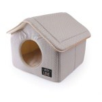 Martin sellier hondenmand kattenmand huis just love taupe (43X43X40 CM)