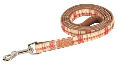 Zolux hondenriem imao scott rood / beige (120X2 CM)
