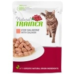 Natural trainer cat adult salmon pouch (12X85 GR)
