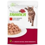 Natural trainer cat adult beef pouch (12X85 GR)