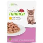Natural trainer cat kitten / junior chicken pouch (12X85 GR)