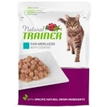 Natural trainer cat sterilised codfish pouch (12X85 GR)