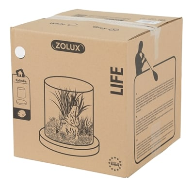 Zolux life cylinder met witte rand (24,5X24,5X28 CM)