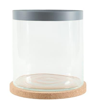 Zolux life cylinder met grijze rand (24,5X24,5X28 CM)