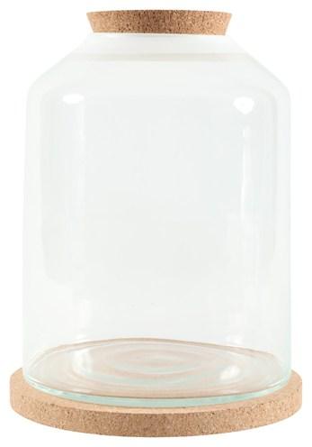 Zolux life bell stolp glas witte rand met kurk (27X27X36 CM)