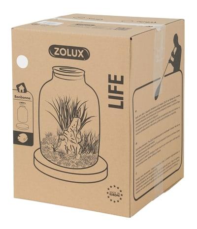 Zolux life jug vaas witte rand met kurk (23X23X35,5 CM)