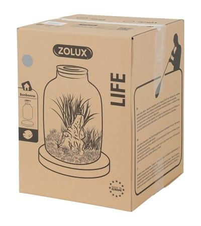 Zolux life jug vaas grijze  rand met kurk (23X23X35,5 CM)