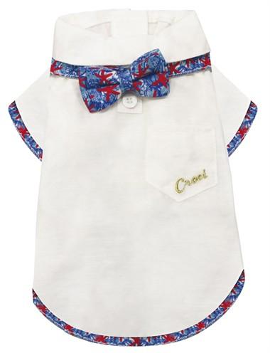 Croci t-shirt hond reef met strik wit (30 CM)