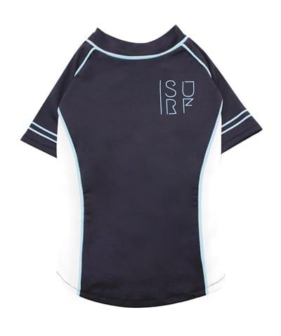 Croci t-shirt hond surfing zwart / wit / lichtblauw (30 CM)