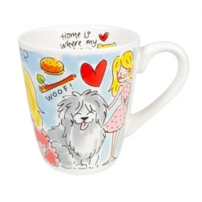 Blond amsterdam mok dog lover (0,35L 9X9X11CM)