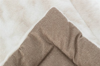 Trixie ligmat nelli wit – taupe / lichtbruin (60X50 CM)