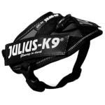 Julius k9 idc power-harnas/tuig voor labels zwart (BABY 2/35-43 CM)