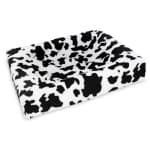 Bia bed fleece overtrek hondenmand black / white (BIA-50 60X50X12 CM)