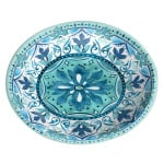 Tarhong voerbak kat gibraltar melamine blauw (13X13,5X3 CM 180 ML)